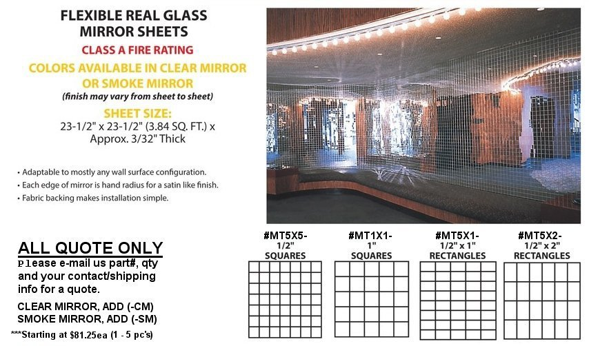 Flexible Real Glass Mirror Tambour Sheets 25 00 Ng Fee Per Order On This Up To 25pcs Ship By Ups